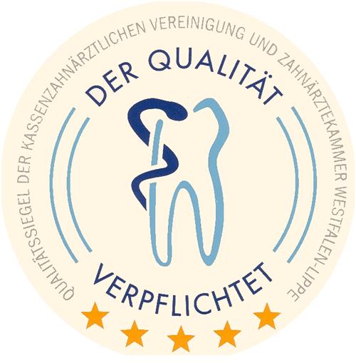 Logo Qualität Verpflichtet Zahnarztpraxis Warstein